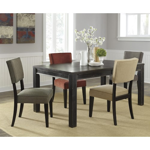 Signature Design by Ashley Gavelston 5-Piece Rectangular Table Dining Set