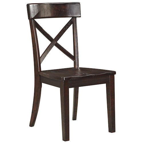 Signature Design by Ashley Gerlane Solid Pine Dining Room Side Chair with X-Back