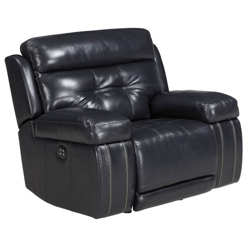 Signature Design by Ashley Graford Leather Match Power Recliner with Adjustable Headrest