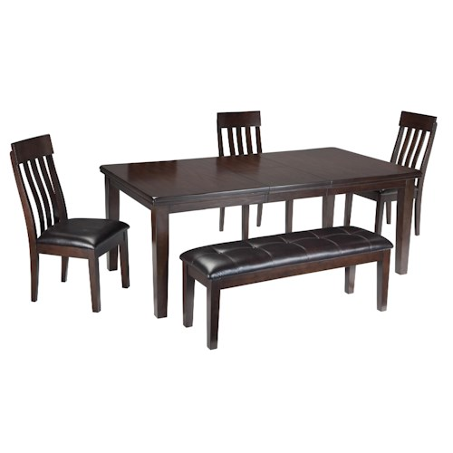 Signature Design by Ashley Haddigan 5-Piece Table, Chair and Bench Set