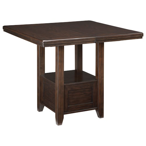 Signature Design by Ashley Haddigan Rectangular Dining Room Extension Table with Shelf