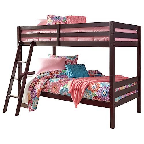 Signature Design by Ashley Halanton Solid Pine Twin/Twin Bunk Bed