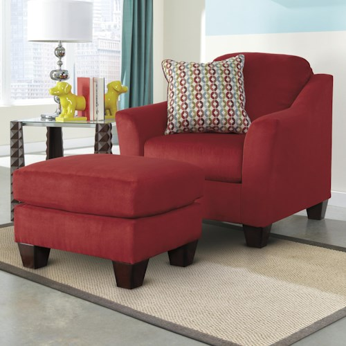 Signature Design by Ashley Hannin - Spice Contemporary Chair & Ottoman