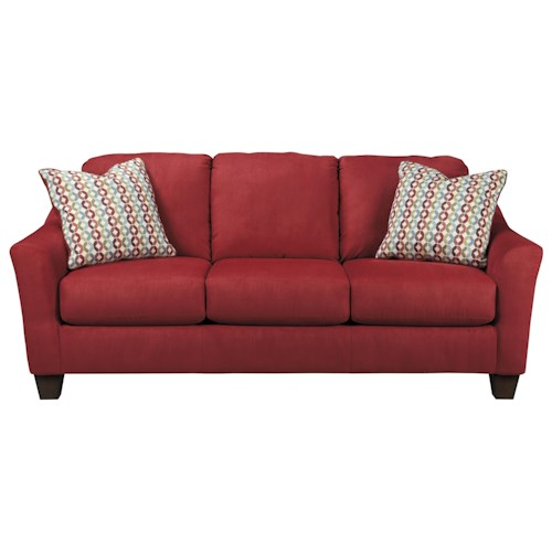 Signature Design by Ashley Hannin - Spice Contemporary Queen Sofa Sleeper with Flared Arms