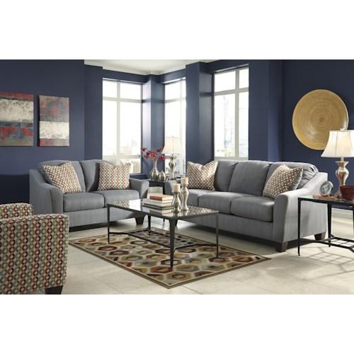 Signature Design by Ashley Hannin - Lagoon Stationary Living Room Group