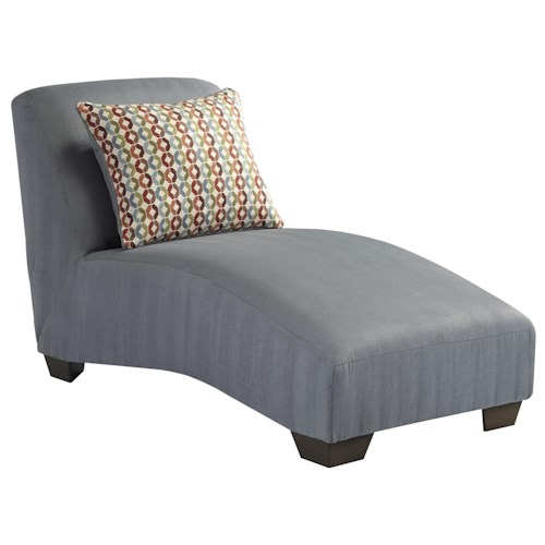 Signature Design by Ashley Hannin - Lagoon Contemporary Armless Chaise