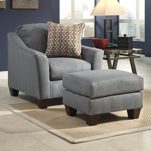 Signature Design by Ashley Hannin - Lagoon Contemporary Chair & Ottoman
