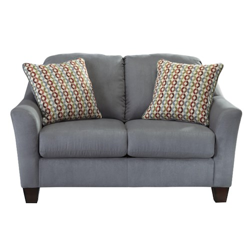 Signature Design by Ashley Hannin - Lagoon Contemporary Loveseat with Flared Arms