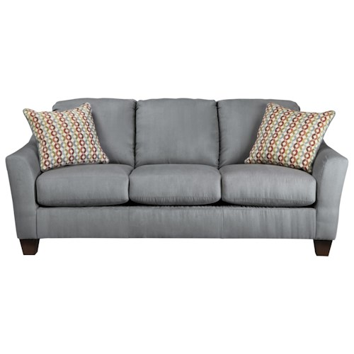 Signature Design by Ashley Hannin - Lagoon Contemporary Sofa with Flared Arms