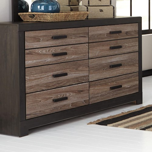 Signature Design by Ashley Harlinton Rustic Two-Tone Dresser