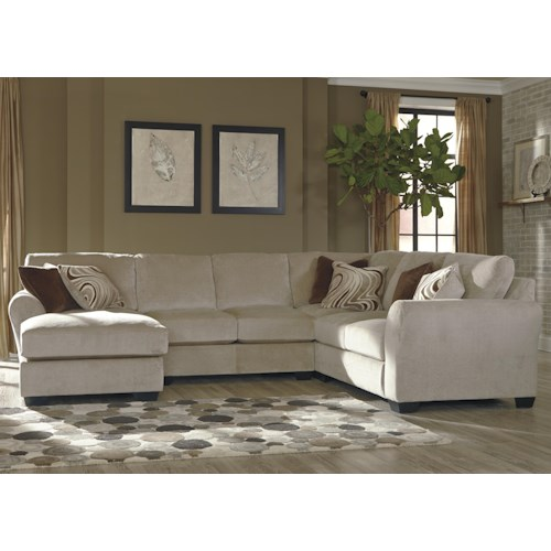 Ashley/Benchcraft Hazes 4-Piece Sectional w/ Left Chaise