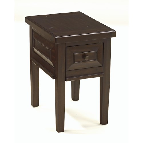 Signature Design by Ashley Hindell Park Chair Side End Table with 1 Drawer