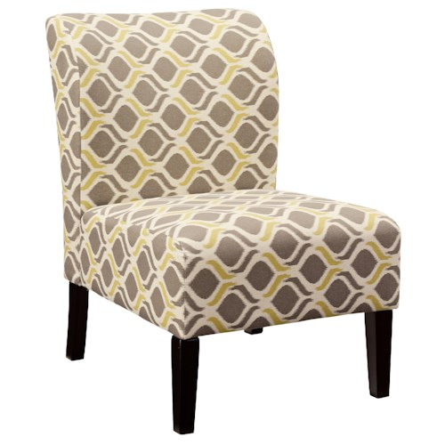 Signature Design by Ashley Honnally Contemporary Slipper Style Accent Chair