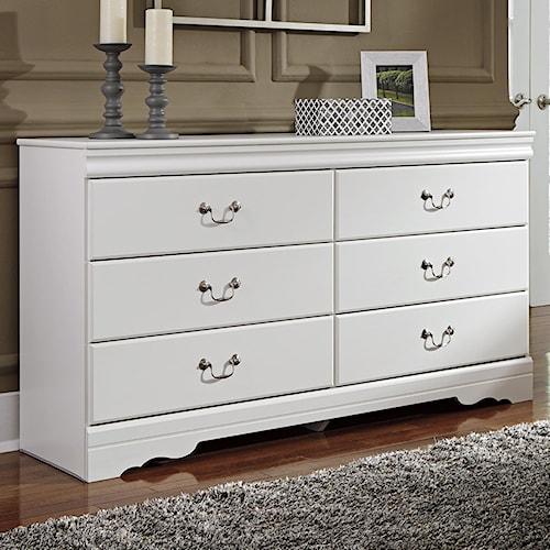 Signature Design By Ashley Anarasia 6 Drawer Dresser Value City Furniture Dressers