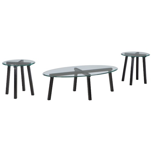 Signature Design by Ashley Iselle Contmporary 3-Piece Occasional Table Set