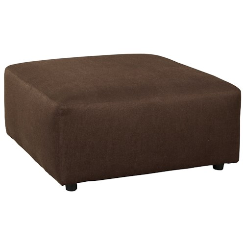 Signature Design by Ashley Jayceon Contemporary Square Oversized Accent Ottoman