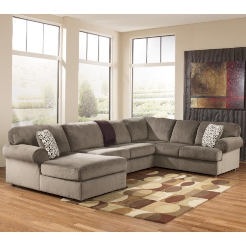 Signature Design by Ashley Jessa Place - Dune Casual Sectional Sofa with Left Chaise