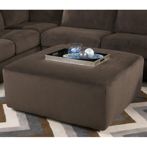 Signature Design by Ashley Jessa Place  - Chocolate Casual and Contemporary Oversized Accent Ottoman