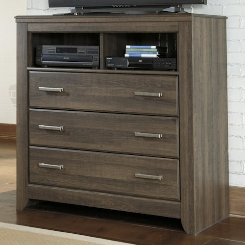 Signature Design by Ashley Juararo 3-Drawer Media Chest