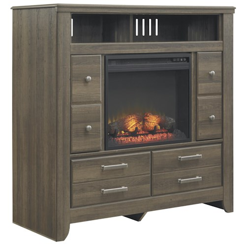 Signature Design by Ashley Juararo Media Chest with Electric Fireplace Insert