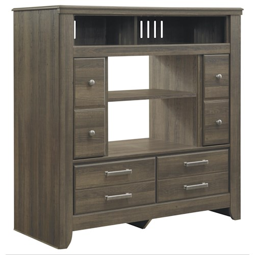 Signature Design by Ashley Sawyer Media Chest with 2 Doors and 2 Drawers
