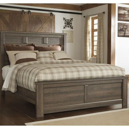 Signature Design by Ashley Juararo Transitional Queen Panel Bed