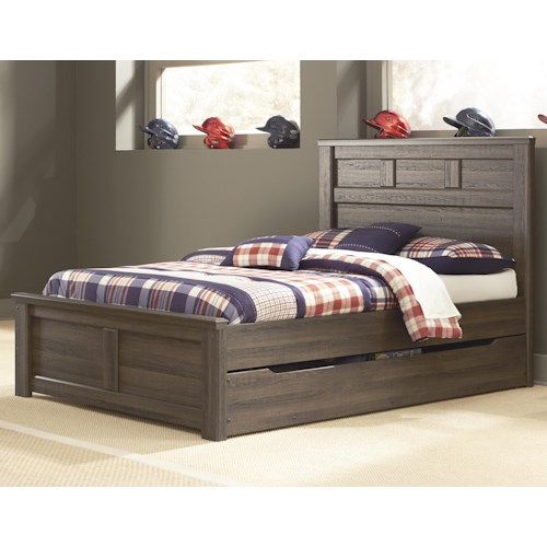 Signature Design by Ashley Juararo Transitional Full Panel Bed w/ Under Bed Storage