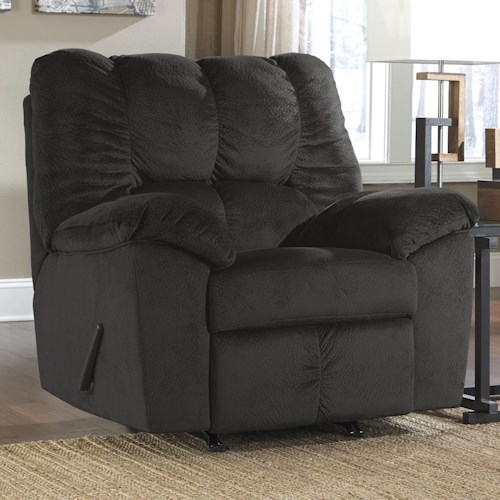 Signature Design by Ashley Julson - Ebony Casual Contemporary Rocker Recliner