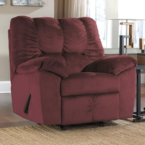 Signature Design by Ashley Julson - Burgundy Casual Contemporary Rocker Recliner
