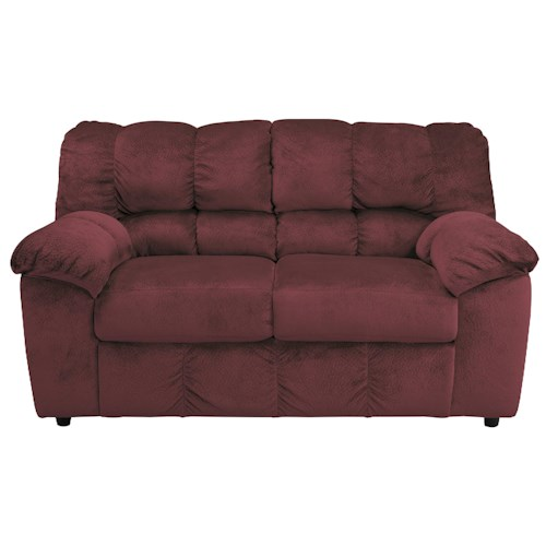 Signature Design by Ashley Julson - Burgundy Casual Contemporary Loveseat