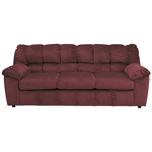 Signature Design by Ashley Julson - Burgundy Casual Contemporary Sofa