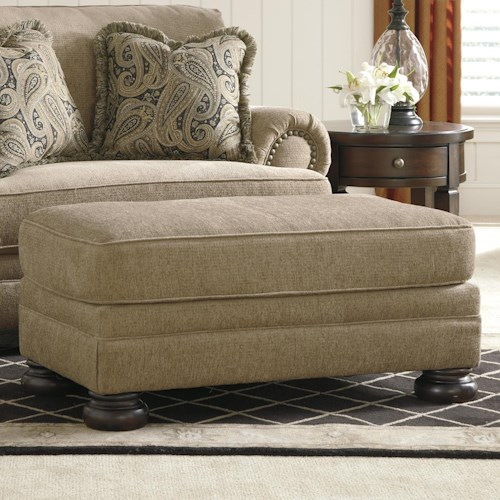 Signature Design by Ashley Keereel - Sand Transitional Rectangular Ottoman