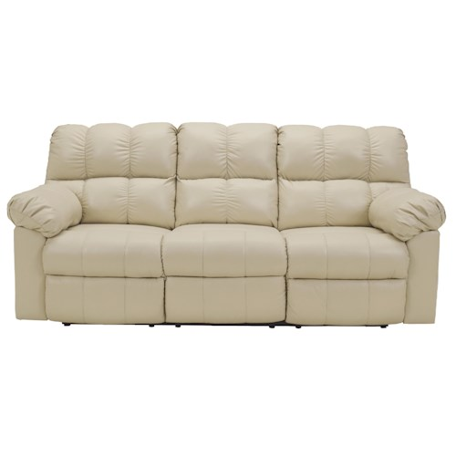 Signature Design by Ashley Kennard - Cream Reclining Sofa with Infinite Power Reclining Positions