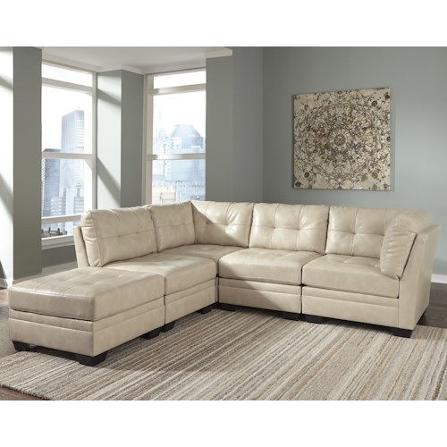 Signature Design by Ashley Khalil DuraBlend® Contemporary 5-Piece Modular Sectional