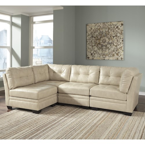 Signature Design by Ashley Khalil DuraBlend® Contemporary 4-Piece Modular Sectional