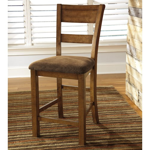 Signature Design by Ashley Krinden Rustic Upholstered Barstool
