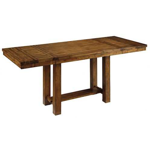 Signature Design by Ashley Krinden Rustic Rectangular Counter Extension Table
