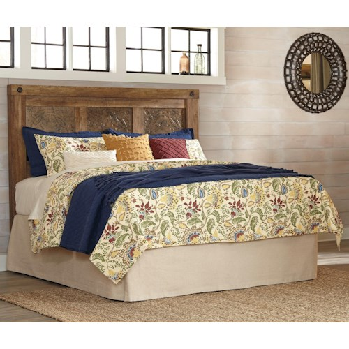 Signature Design by Ashley Ladimier King Mansion Headboard with Decorative Panels