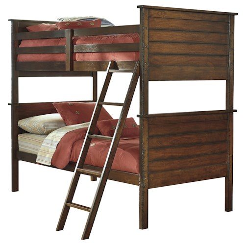 Signature Design by Ashley Ladiville Rustic Twin/Twin Bunk Bed