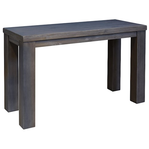 Signature Design by Ashley Lamoille Modern Rustic Sofa Table in Gray Finish