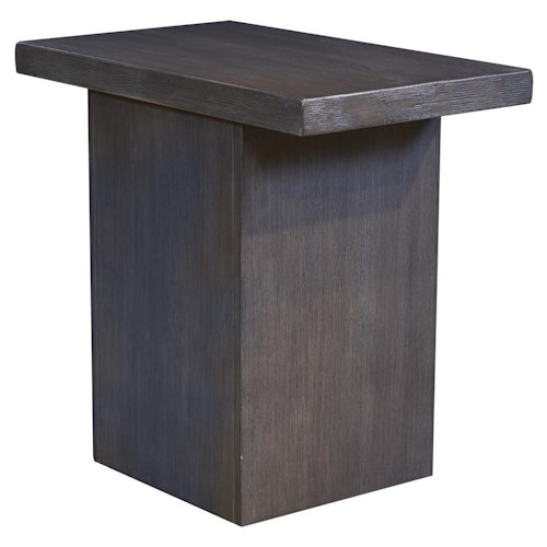 Signature Design by Ashley Lamoille Modern Rustic Chair Side End Table in Gray Finish