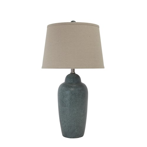 Signature Design by Ashley Lamps - Contemporary Ceramic Table Lamp