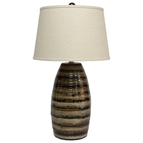 Signature Design by Ashley Lamps - Contemporary Darlon Ceramic Table Lamp