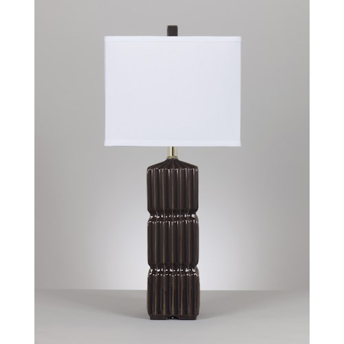 Signature Design by Ashley Lamps - Contemporary Set of 2 Ranissa Ceramic Table Lamps