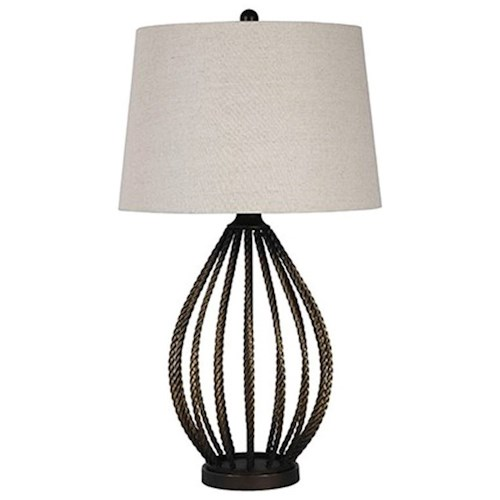 Signature Design by Ashley Lamps - Contemporary Darrius Metal Table Lamp