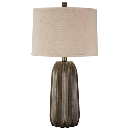 Signature Design by Ashley Lamps - Contemporary Khalil Poly Table Lamp