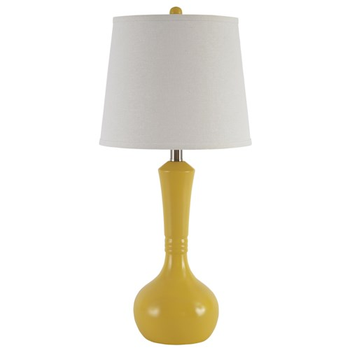 Signature Design by Ashley Lamps - Contemporary Set of 2 Synthie Poly Table Lamps