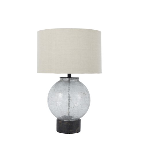 Signature Design by Ashley Lamps - Contemporary Shauni Transparent Glass Table Lamp