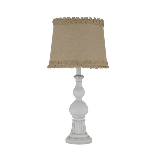 Signature Design by Ashley Lamps - Contemporary Selda Antique White Poly Table Lamp