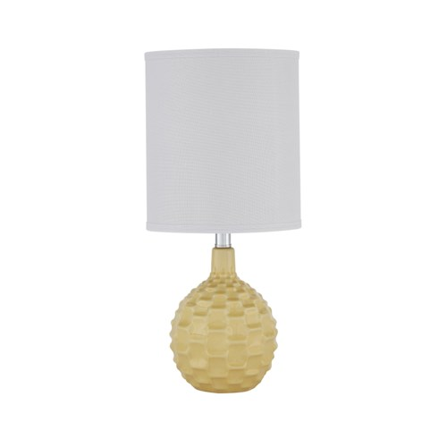 Signature Design by Ashley Lamps - Contemporary Sondre Yellow Ceramic Table Lamp